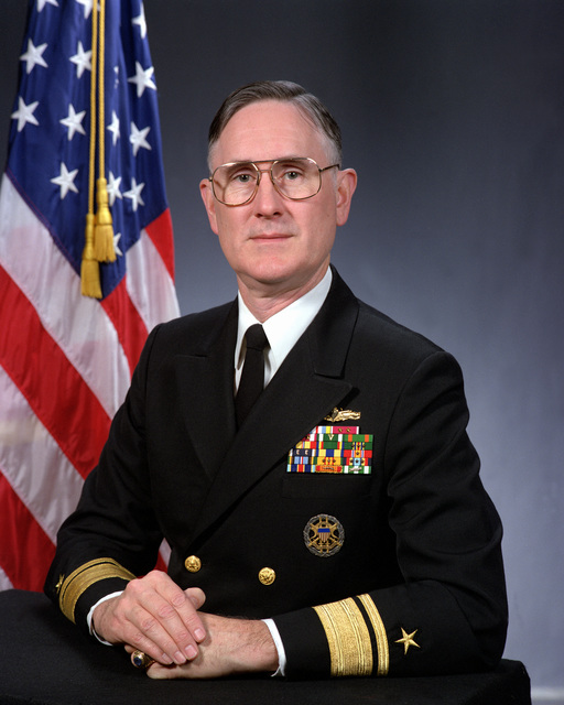Rear Admiral Dennis R. Conley, USN (upper half) (uncovered)