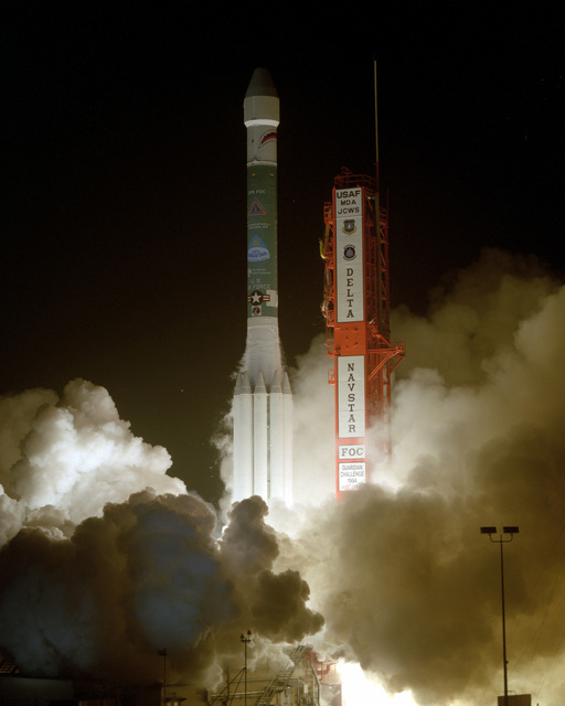 At 10:40 P.M., EST the 24TH Navstar Global Positioning System (GPS) Satellite lifts off aboard the Air Force's Delta II launch vehicle from complex 17A