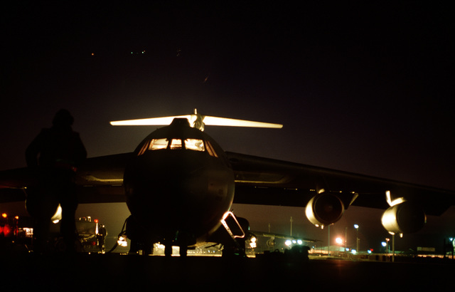 C-141B from the 438th Airlift Wing, McGuire Air Force Base, NJ, during preflight