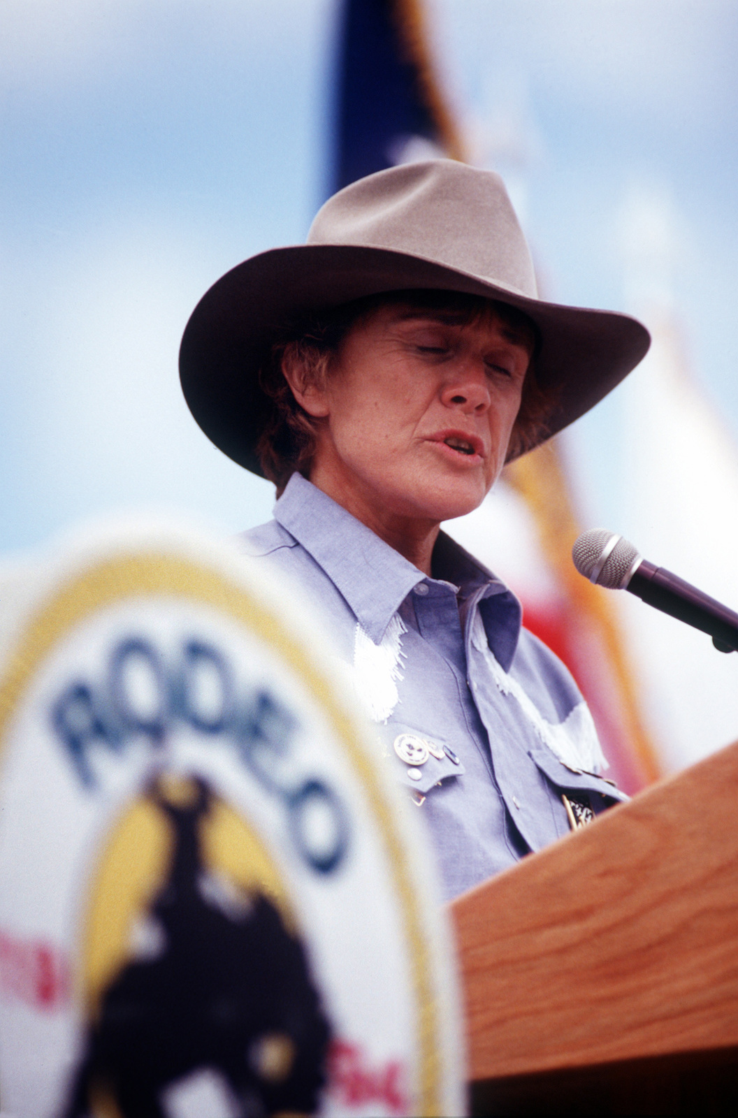 Dr. Sheila Widnall, Secretary of the Air Force, speaks at RODEO 94