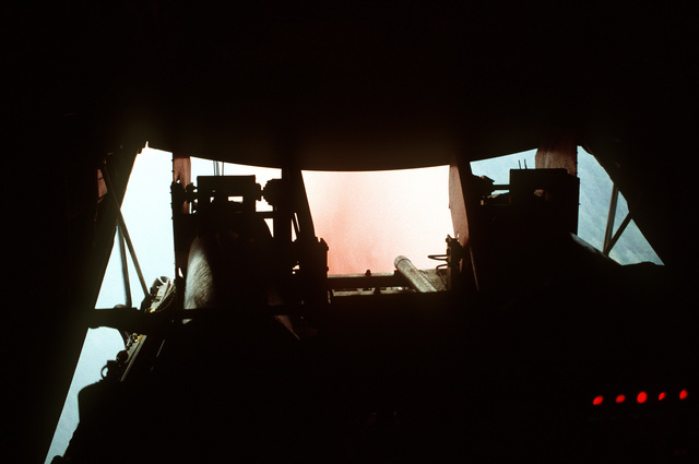 Loadmaster's view of a Phoschek retardant drop over the Rattlesnake Fire in Southern Arizona
