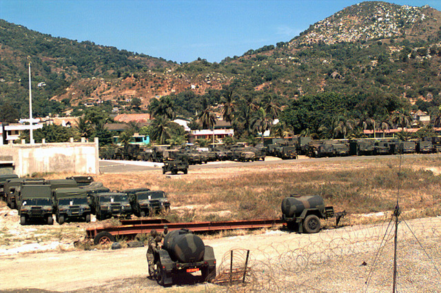 This area at the port of Cap Haitien is utilized as the special Marine Air Ground Task Force (MAGTF) Command and Control area of operation
