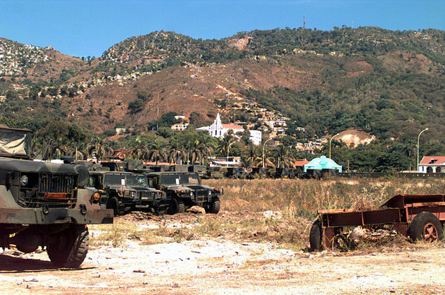 This land area of the port of Cap Haitien is being utilized as the special Marine Air Ground Task Force (MAGTF) Command and Control area of operation