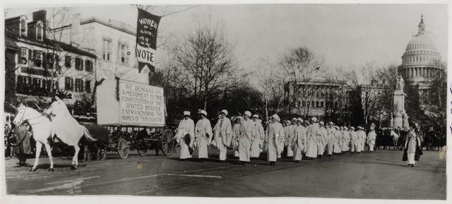 Women Marching in Suffragette Parade, Washington, DC