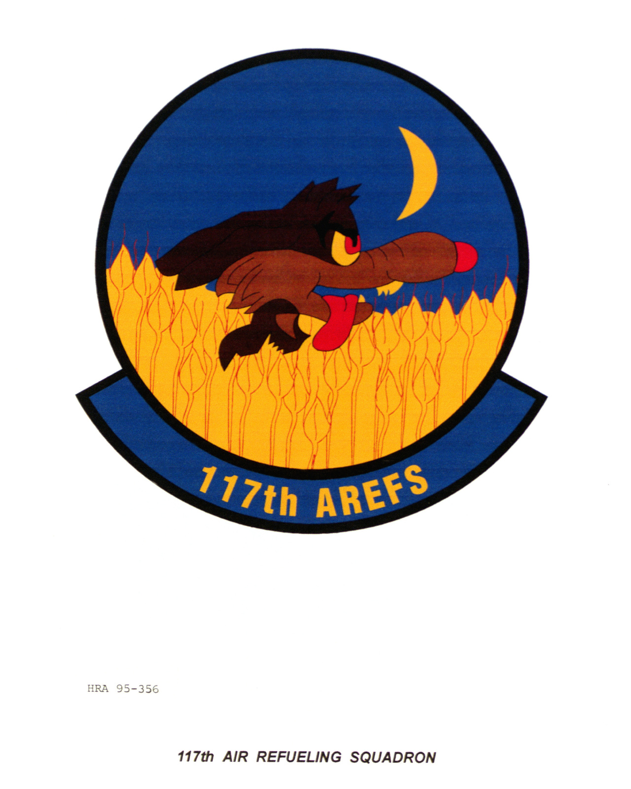 Approved Insignia for the 117th Air Refueling Squadron Exact Date Shot Unknown