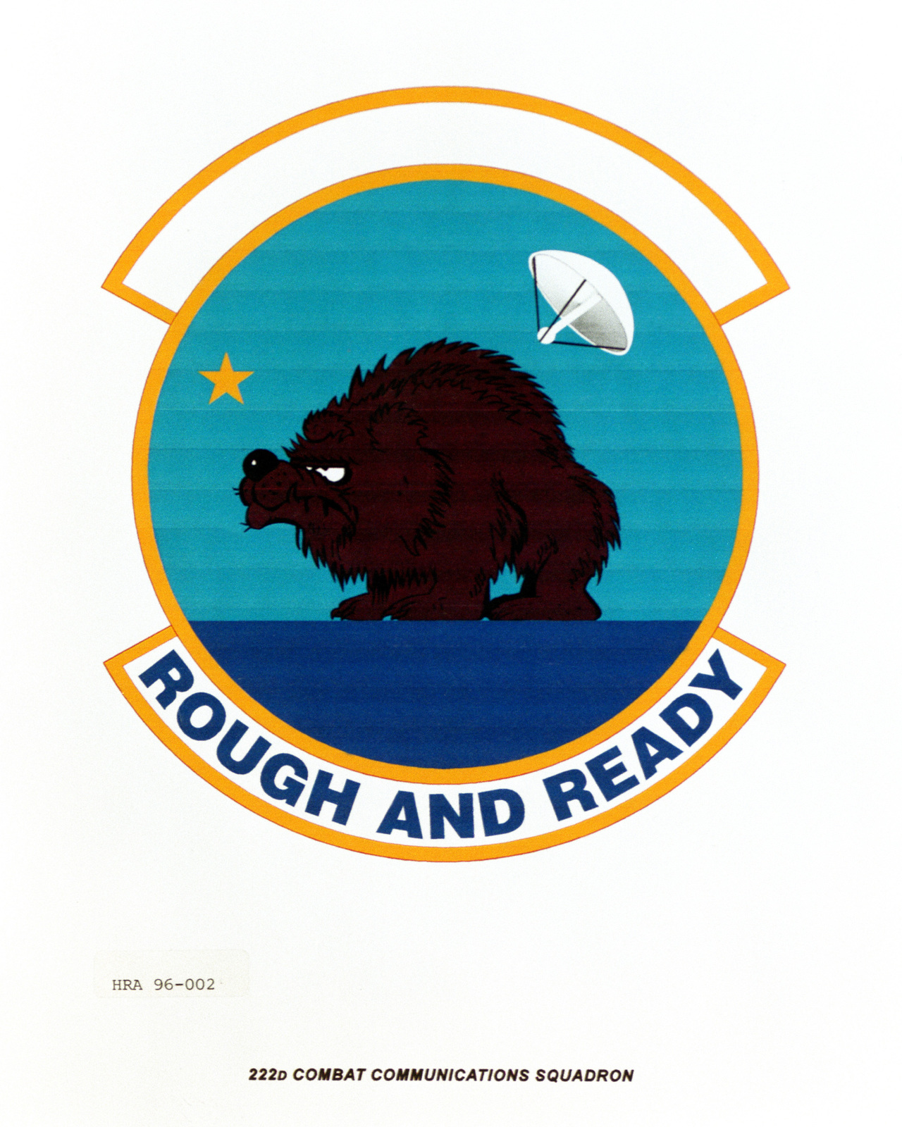 Approved Insignia for the 222nd Combat Communications Squadron Exact Date Shot Unknown