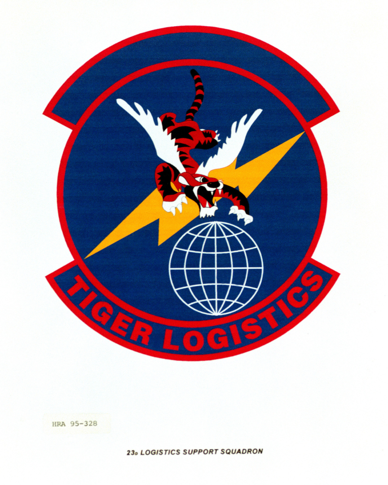 Approved Insignia for the 23rd Logistics Support Squadron Exact Date Shot Unknown