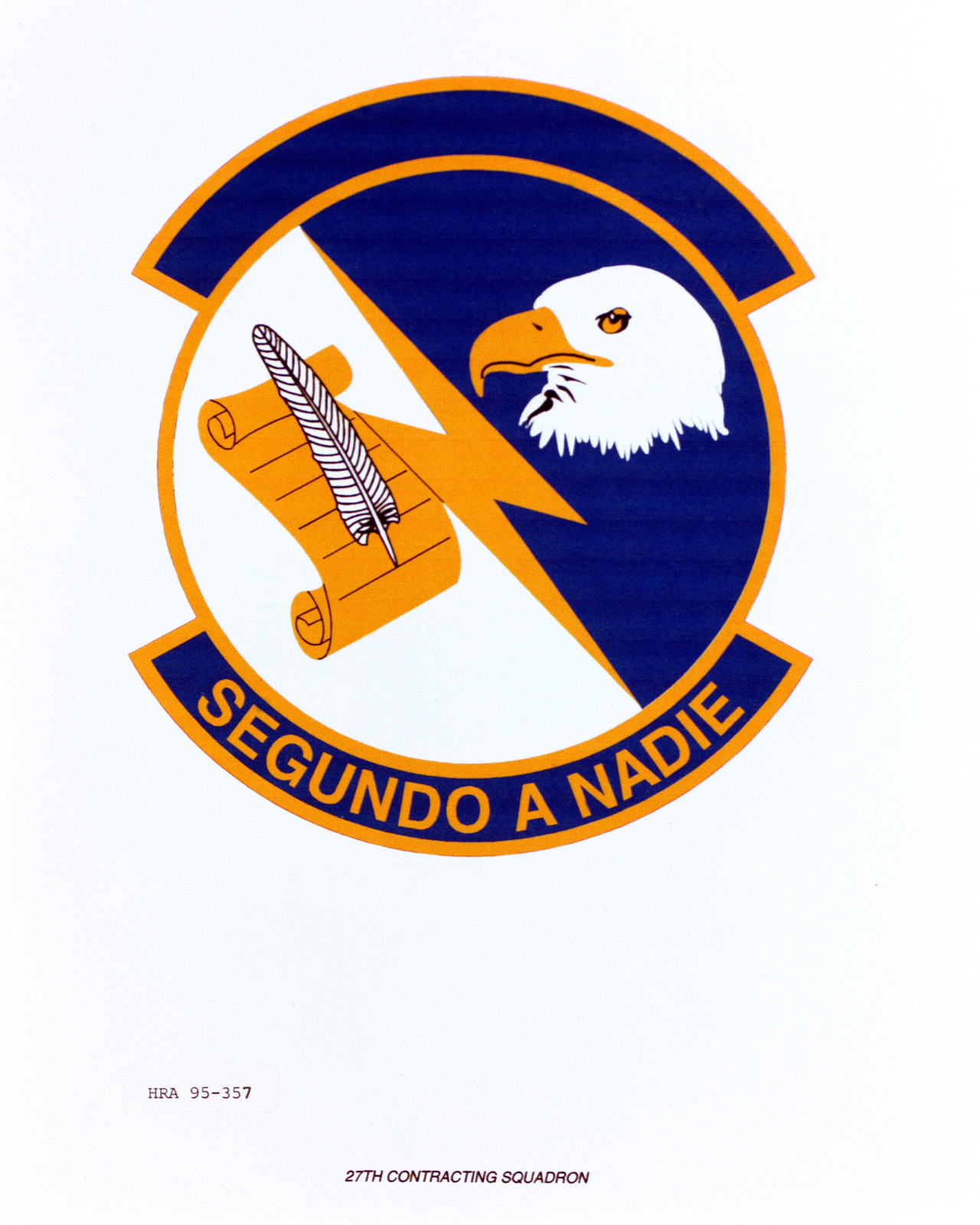 Approved Insignia for the 27th Contracting Squadron Exact Date Shot Unknown