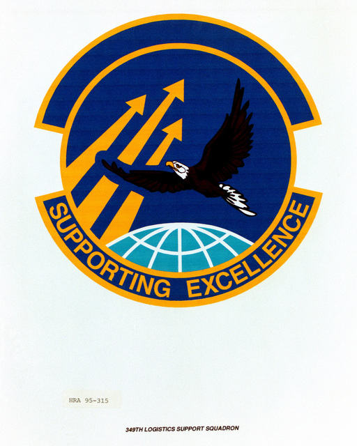 Approved Insignia for the 349th Logistics Support Squadron Exact Date Shot Unknown