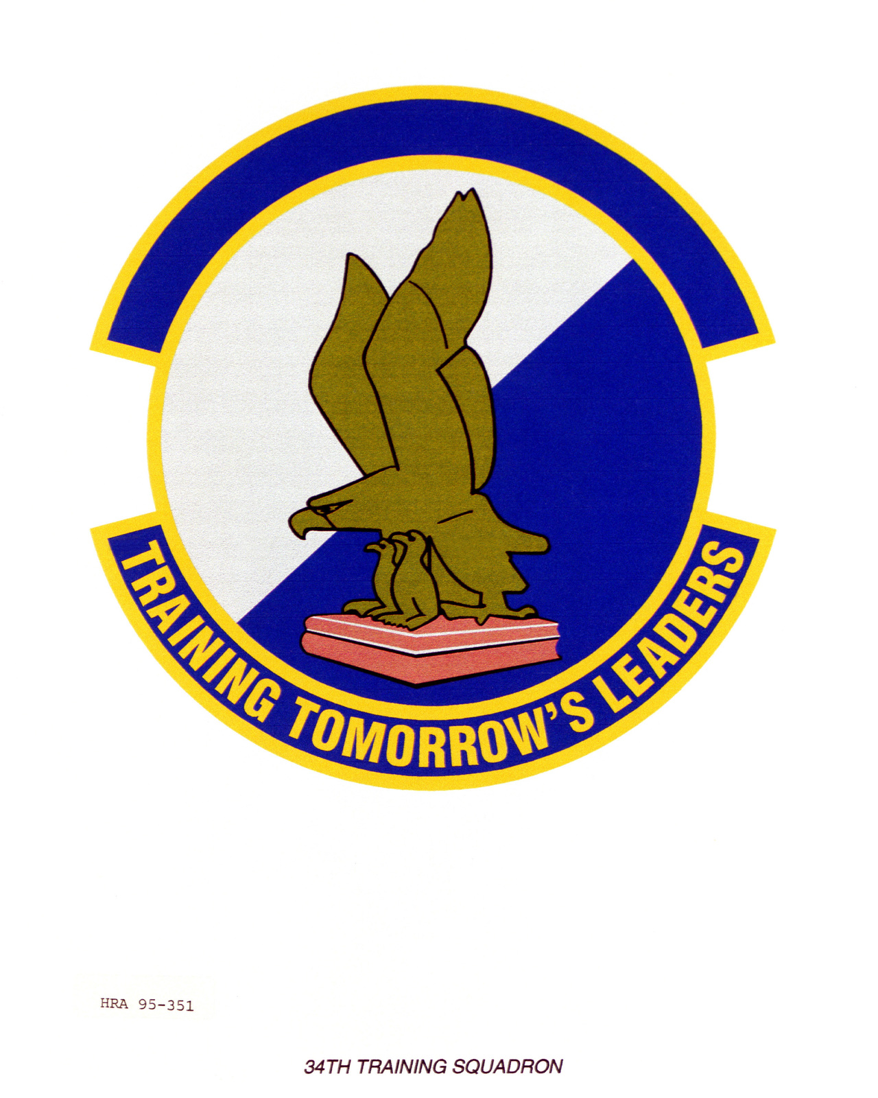 Approved Insignia for the 34th Training Squadron Exact Date Shot Unknown