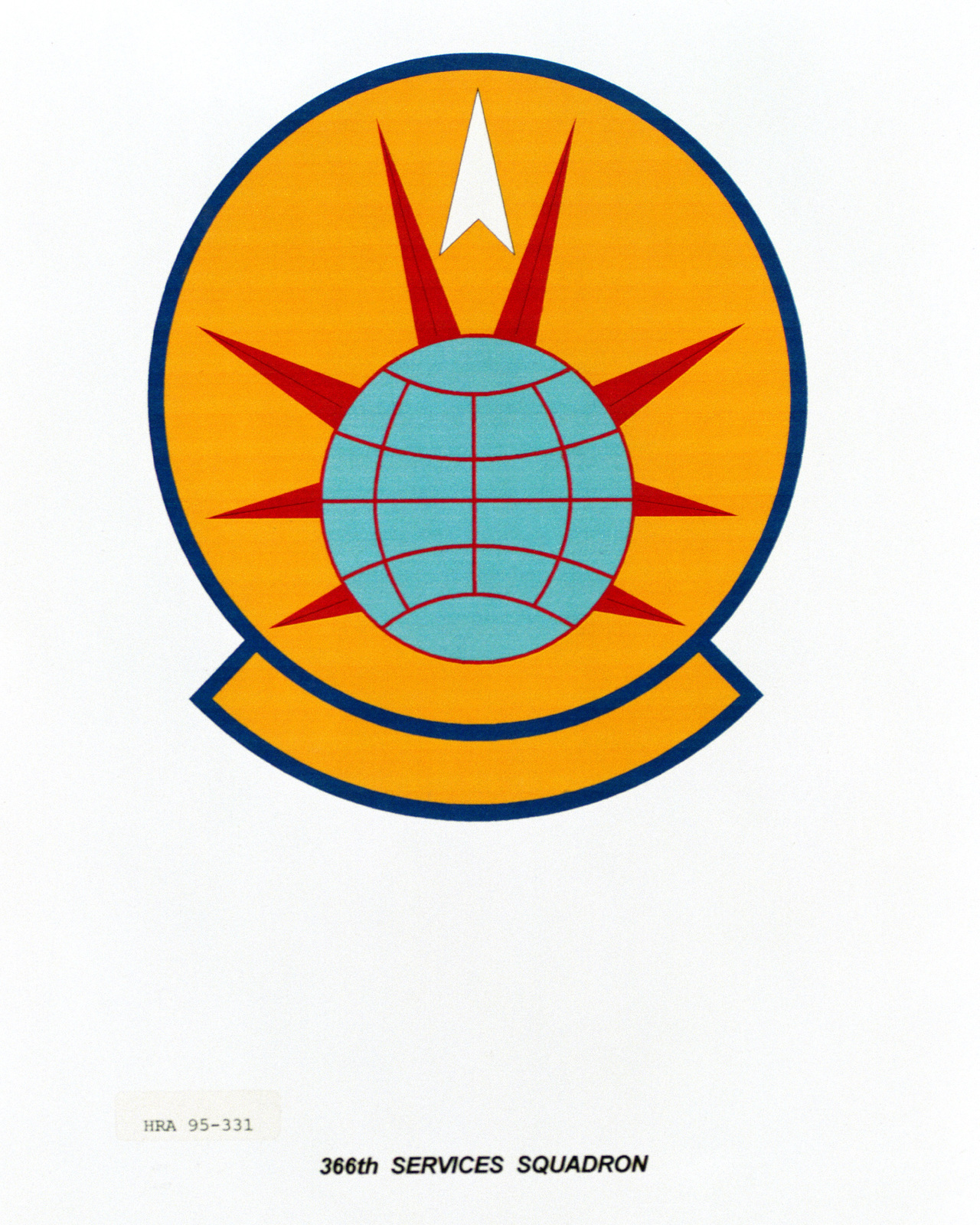 Approved Insignia for the 366th Services Squadron Exact Date Shot Unknown