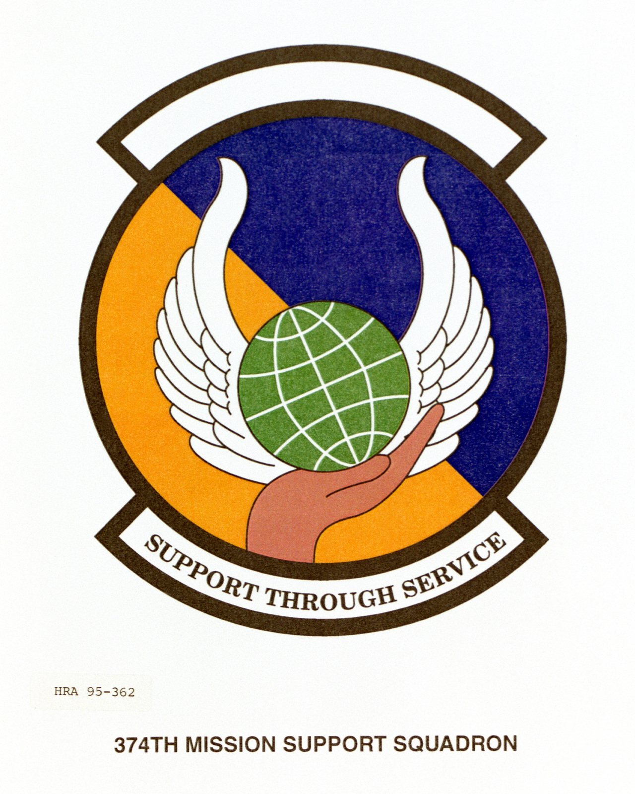 Approved Insignia for the 374th Mission Support Squadron Exact Date Shot Unknown