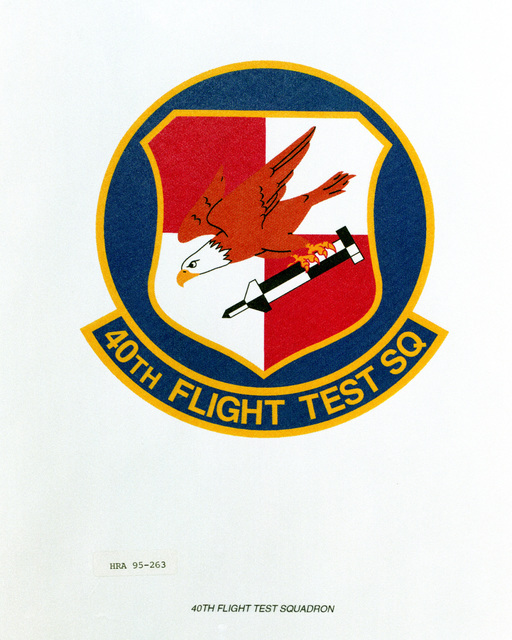 Approved Insignia for the 40th Flight Test Squadron Exact Date Shot Unknown