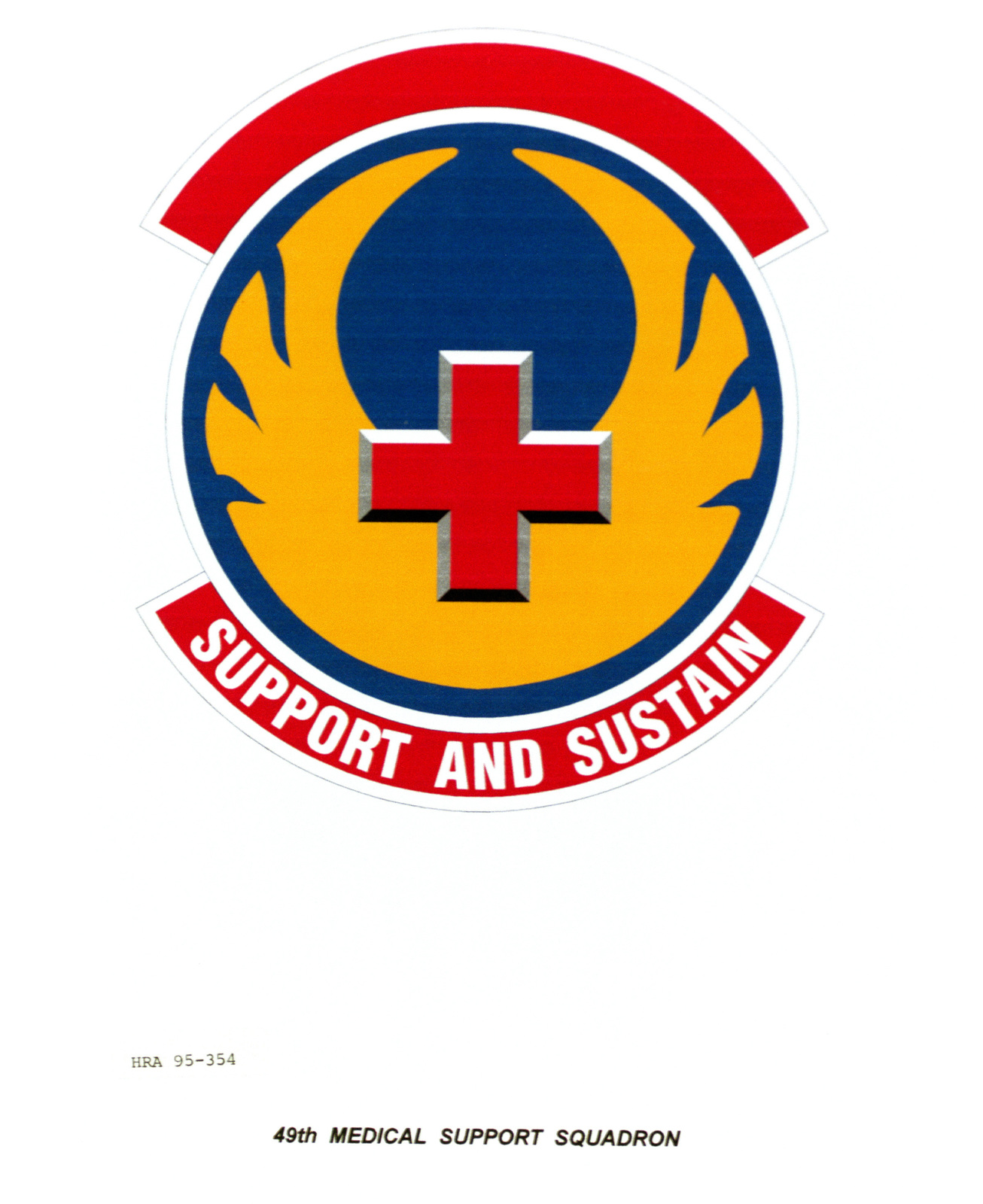 Approved Insignia for the 49th Medical Support Squadron Exact Date Shot Unknown