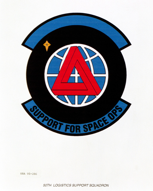 Approved Insignia for the 50th Logistics Support Squadron Exact Date Shot Unknown