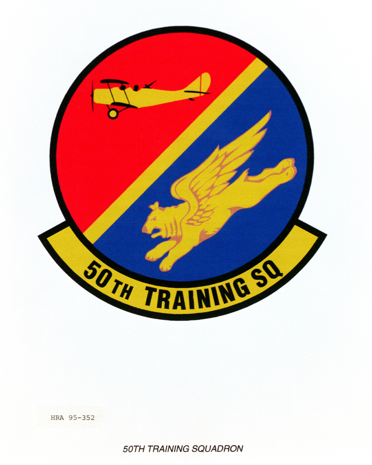 Approved Insignia for the 50th Training Squadron Exact Date Shot Unknown