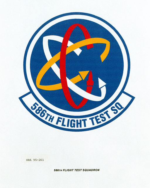 Approved Insignia for the 586th Flight Test Squadron Exact Date Shot Unknown