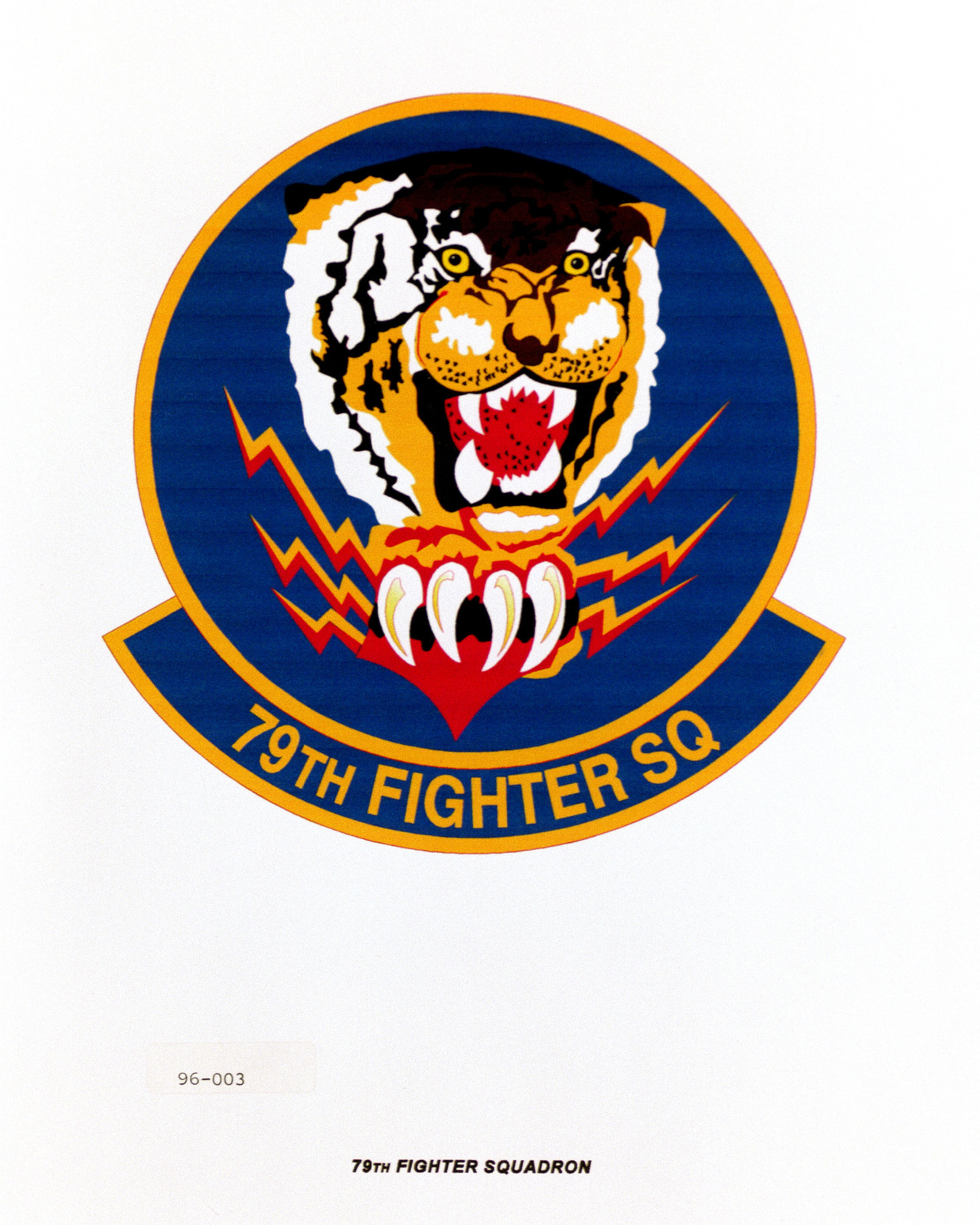 Approved Insignia for the 79th Fighter Squadron Exact Date Shot Unknown
