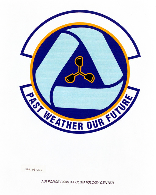 Approved Insignia for the Air Force Combat Climatology Center Exact Date Shot Unknown