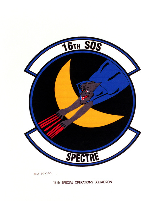 Approved Insignia of the 16th Special Operations SquadronEXACT DATE SHOT UNKNOWN