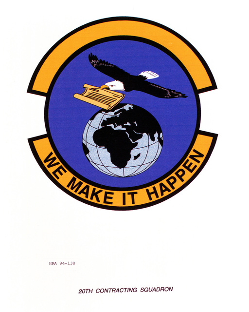 Approved Insignia of the 20th Contracting SquadronEXACT DATE SHOT UNKNOWN