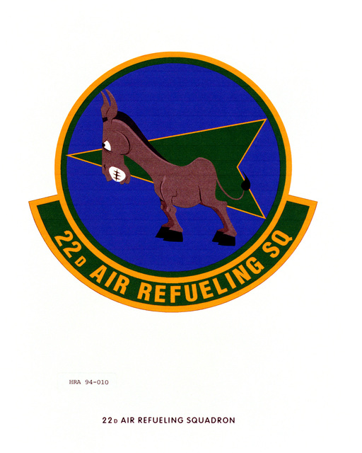 Approved Insignia of the 22nd Air Refueling SquadronEXACT DATE SHOT UNKNOWN