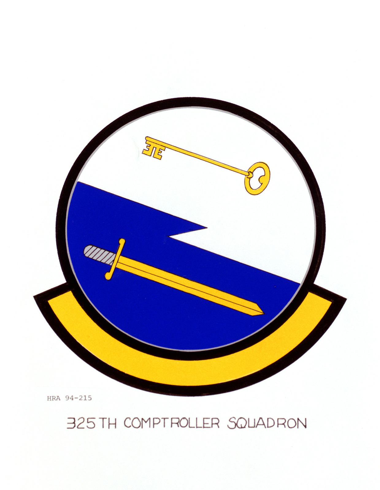 Approved Insignia of the 325th Comptroller Squadron
