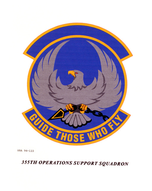 Approved Insignia of the 355th Operations Support Squadron.EXACT DATE SHOT UNKNOWN
