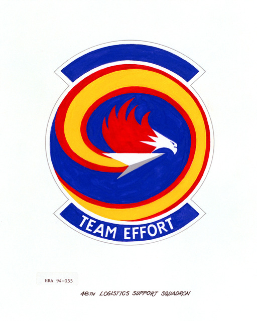 Approved Insignia of the 48th Logistics Support Squadron.EXACT DATE SHOT UNKNOWN
