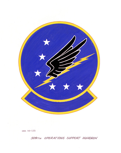 Approved Insignia of the 509th Operations Support SquadronEXACT DATE SHOT UNKNOWN