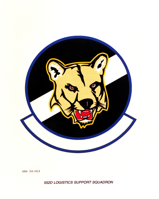 Approved Insignia of the 552nd Logistics Support Squadron.EXACT DATE SHOT UNKNOWN