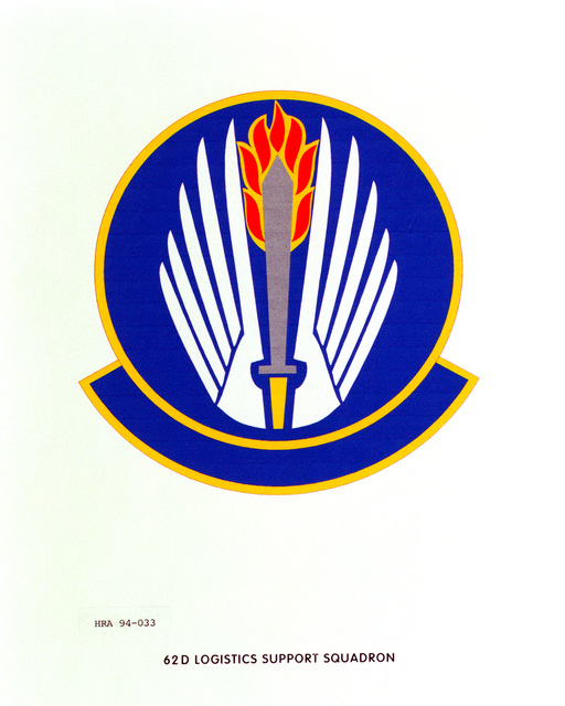 Approved Insignia of the 62nd Logistics Support SquadronEXACT DATE SHOT UNKNOWN