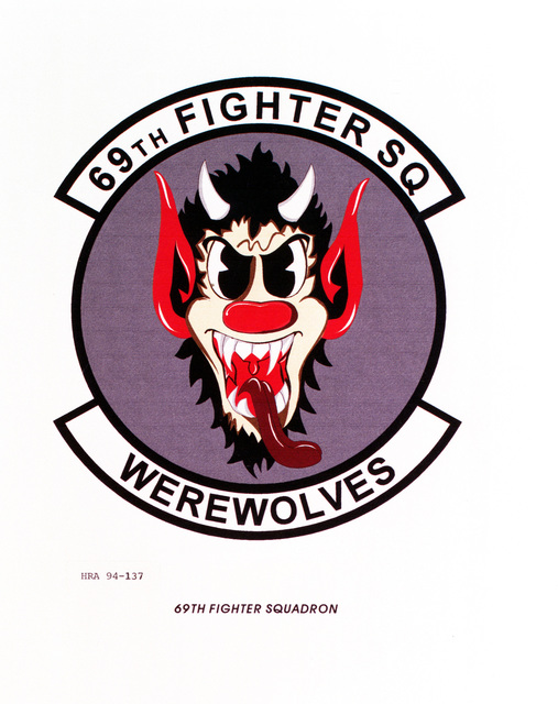 Approved Insignia of the 69th Fighter SquadronEXACT DATE SHOT UNKNOWN