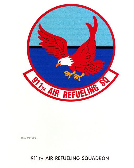 Approved Insignia of the 911th Air Refueling SquadronEXACT DATE SHOT UNKNOWN