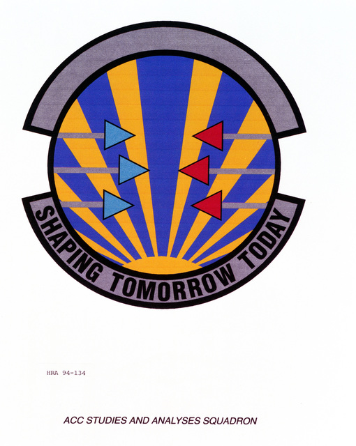 Approved Insignia of the Air Combat Command Study and Analysis SquadronEXACT DATE SHOT UNKNOWN