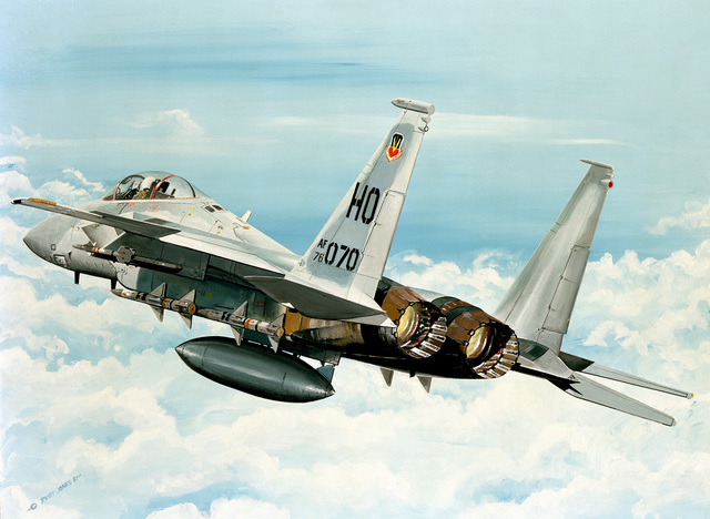"Artwork: ""American Eagle"". Artist: Paul Jones. US Air Force Art Collection (Copyrighted)"