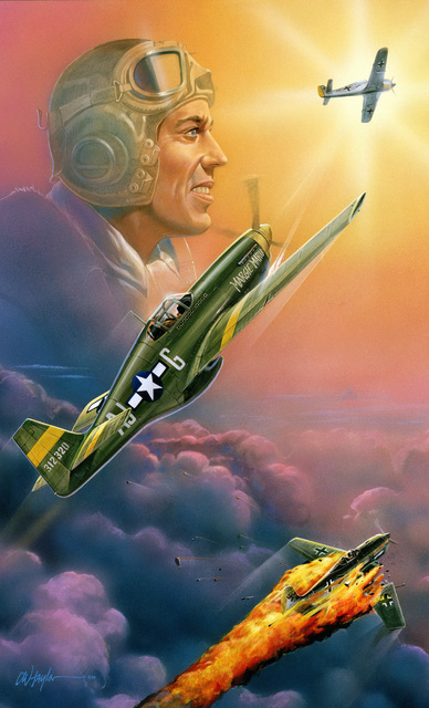"Artwork: ""CAPT. Jack Bradley: Two FW-190s Shot Down in Ten Seconds"". Artist: C. Winston Taylor"
