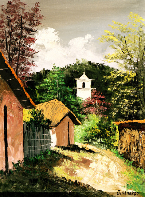 "Artwork: ""Church Belltower"" Paraguay, 1981. Artist: J. Gallardo. Catalog Number: P2.5.82"