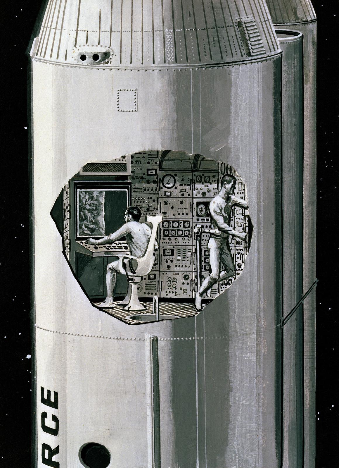 "Artwork: ""Live Reconnaissance"". Artist: Gordon Phillips. US Air Force Art Collection"
