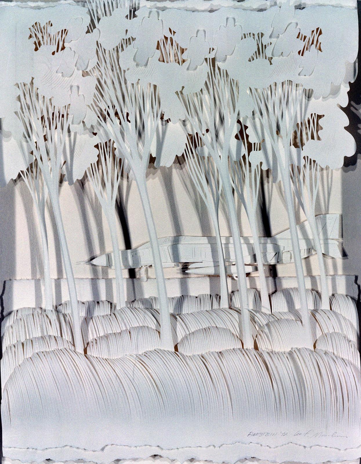 "Artwork: ""Ramstein, 1972 - Phantoms Among the Trees"". Artist: Leo Monahan, USAF Art Collection"