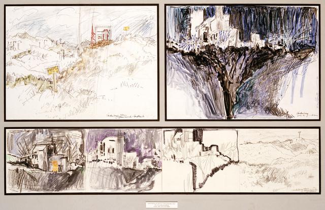 """Artwork: """"Sketchers at SLC-6 Vandenberg AFB"""". Artist: Eva Roberts"""