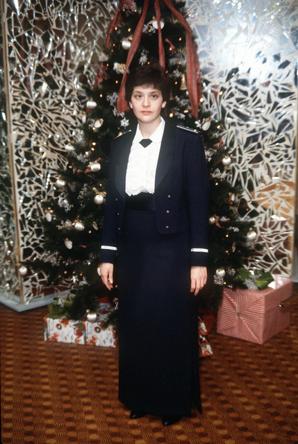 Formal winter dress uniform, female Air Force officer