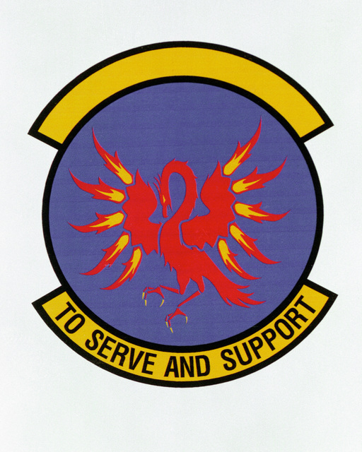 Patch designed and shot at MAXWELL AIR FORCE BASE, ALABAMA, USA - AIR FORCE ORGANIZATIONAL EMBLEMS - 1995...22nd Logistics Support Squadron - Exact date shot unknown. Air Force Historical Research Agency, 95-242