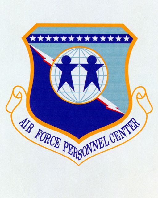 Patch designed and shot at MAXWELL AIR FORCE BASE, ALABAMA, USA - AIR FORCE ORGANIZATIONAL EMBLEMS - 1995...Air Force Personnel Center - Exact date shot unknown. Air Force Historical Research Agency, 95-249