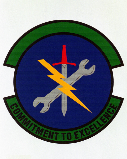 Patch designed and shot at MAXWELL AIR FORCE BASE, ALABAMA, USA - AIR FORCE ORGANIZATIONAL EMBLEMS - 1995...58th Maintenance Squadron - Exact date shot unknown. Air Force Historical Research Agency, 95-241