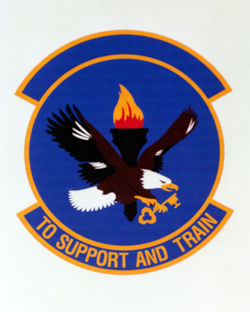 Patch designed and shot at MAXWELL AIR FORCE BASE, ALABAMA, USA - AIR FORCE ORGANIZATIONAL EMBLEMS - 1995...58th Logistics Support Squadron - Exact date shot unknown. Air Force Historical Research Agency, 95-246