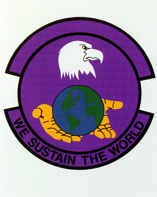 Patch designed and shot at MAXWELL AIR FORCE BASE, ALABAMA, USA - AIR FORCE ORGANIZATIONAL EMBLEMS - 1995...14th Logistics Squadron - Exact date shot unknown. Air Force Historical Research Agency, 95-232