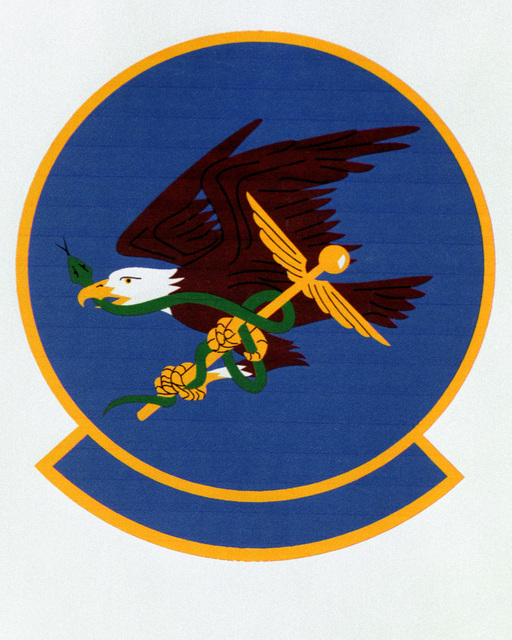 Patch designed and shot at MAXWELL AIR FORCE BASE, ALABAMA, USA - AIR FORCE ORGANIZATIONAL EMBLEMS - 1995...325th Aerospace Medicine Squadron - Exact date shot unknown. Air Force Historical Research Agency, 95-233