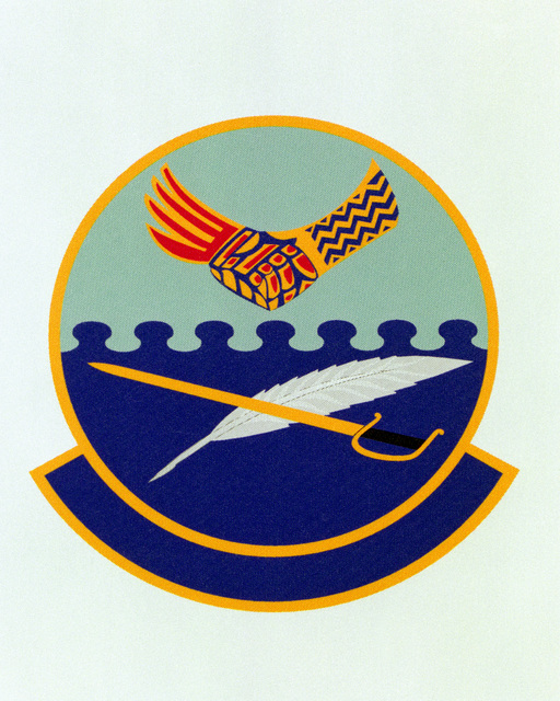 Patch designed and shot at MAXWELL AIR FORCE BASE, ALABAMA, USA - AIR FORCE ORGANIZATIONAL EMBLEMS - 1995...837th Training Support Squadron - Exact date shot unknown. Air Force Historical Research Agency, 95-236
