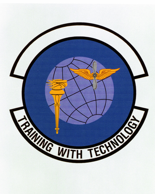 Patch designed and shot at MAXWELL AIR FORCE BASE, ALABAMA, USA - AIR FORCE ORGANIZATIONAL EMBLEMS - 1995...AETC Training Support Squadron - Exact date shot unknown. Air Force Historical Research Agency, 95-235